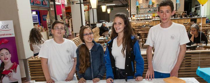 יזמים צעירים ביריד המכירות הארצי